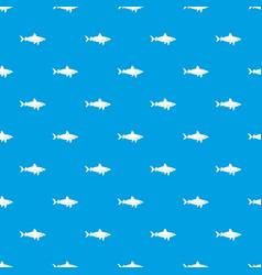 shark fish pattern seamless blue vector image