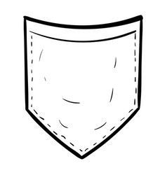 Simple pocket lineart vector