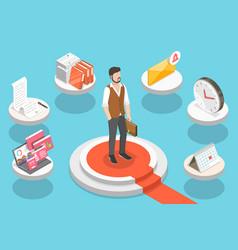 Successful multitasking entrepreneur effective vector