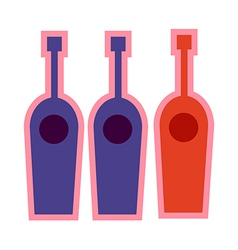 Three bottle vector