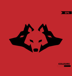 Three wolfs logo vector