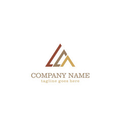Triangle line colored company logo vector