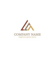 Triangle line colored company logo vector