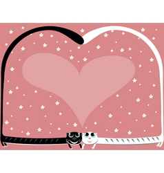 two love cat vector image