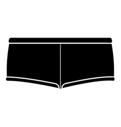 Underpants icon simple black style vector