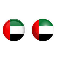 united arab emirates uae flag under 3d dome vector image