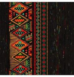 Vertical ornamental seamless pattern Dark ethnic vector