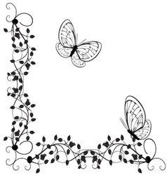 Vintage butterflies 4 vector