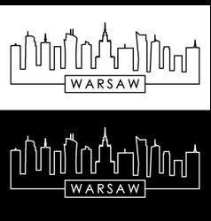 warsaw skyline linear style editable file vector image