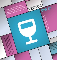 Wine glass Alcohol drink icon sign Modern flat vector image