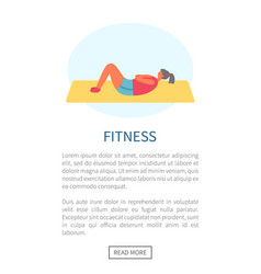 woman doing sit-ups on rug fitness and exercise vector image
