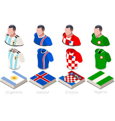 world cup group d jersey set vector image
