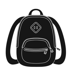 blue school bag a school bag for a book and vector image vector image