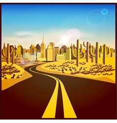 city in the desert vector image vector image