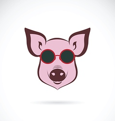 image of a pig glasses vector image