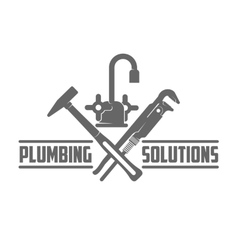 logo water gas engineering plumbing vector image vector image