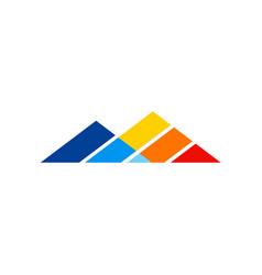 triangle line pyramid logo vector image