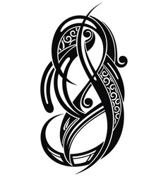 abstract decorative tattoo vector image vector image