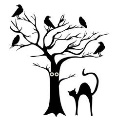 tree crows vector image