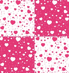 Valentine Day and colorful Heart on white and pink vector image vector image