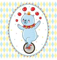 Wonderful of circus Bear vector image