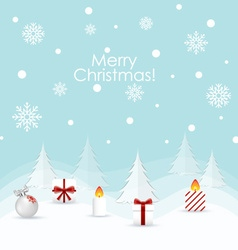 Christmas Greeting Card Christmas background with vector image vector image