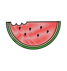 delicious watermelon slice icon vector image