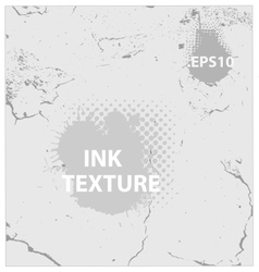ink and crack texture background vector image
