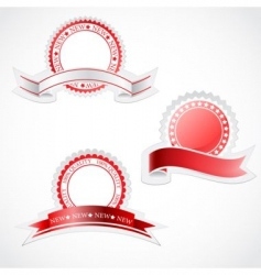 label with ribbon stickers vector image vector image