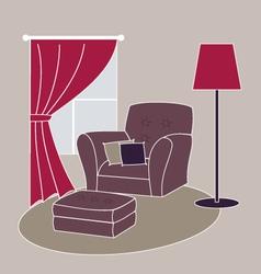 living room corner vector image vector image