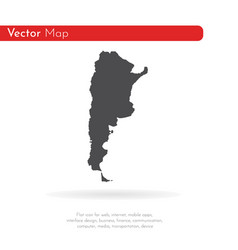 map argentina isolated black vector image