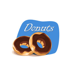 poster template with donuts vector image vector image