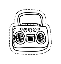 radio retro style drawing vector image