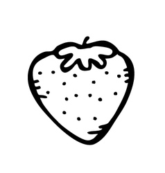 strawberry doodle vector image vector image