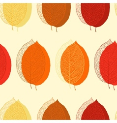 Cute seamless leaf autumn pattern in vector image vector image