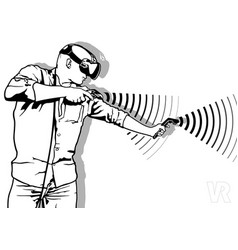 gaming with virtual reality vector image vector image