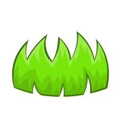 Green grass icon in cartoon style vector image