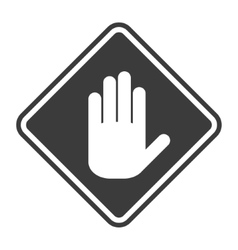 Icon white hand on a grey background vector image