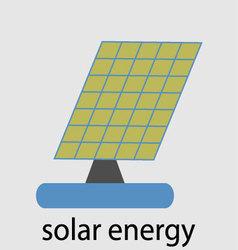 Solar energy icon set vector image vector image