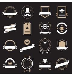Vintage retro flat badges labels signs vector image vector image