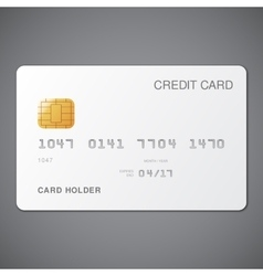 White credit card vector