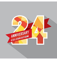 24th Years Anniversary Celebration Design vector image