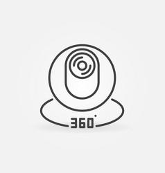 360 degree camera concept icon in thin line vector