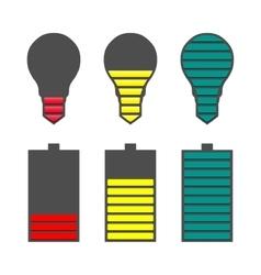 A set of indicators vector image