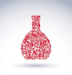 Alcohol flower-patterned bottle classic pitcher vector image