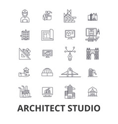 architect studio house plan building vector image