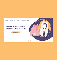 Baby clothing fashion kids winter vector