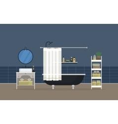 Bathroom interior home room for hygiene vector image