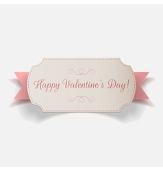 Big Banner with Happy Valentines Day Text vector image