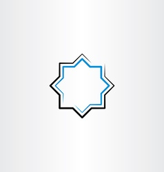 blue black line frame star vector image